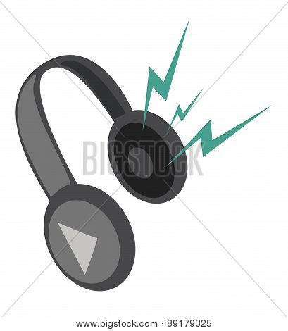Headphones. Vector Illustration.