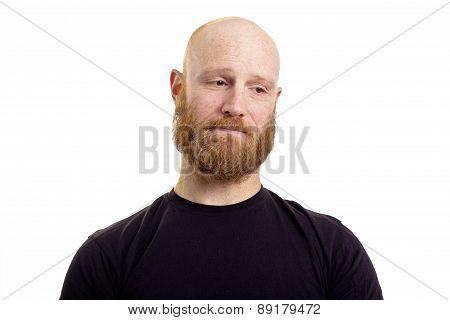 sad man isolated on white background