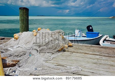 Fishing dock harbor island