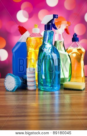 Washing, cleaning stuff, colorful concept