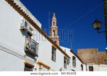 Townhouses and church tower, Ecija.
