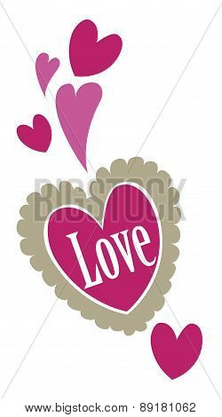 Love Hearts. Valentine's Day Concept. Vector Illustration.