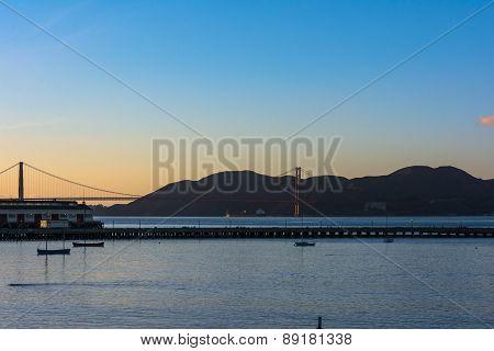 The Bridge at sunset, San Francisco