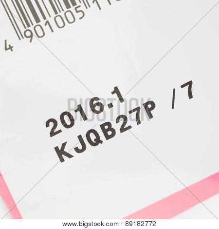 Expiry date printed