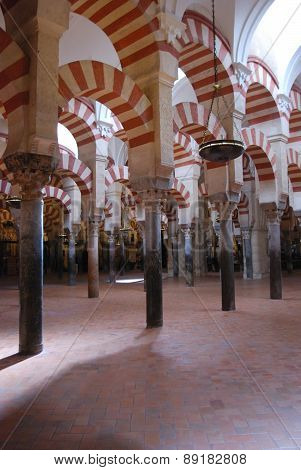 Prayer Hall in Mezquita, Cordoba.