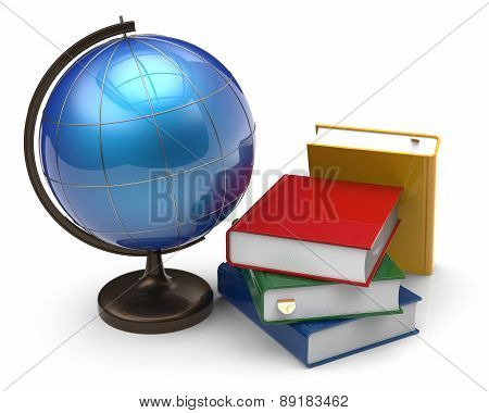 Books And Globe International Global Geography Knowledge