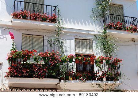 Spanish balconies, Marbella.