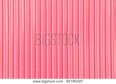 Pink corrugated metal