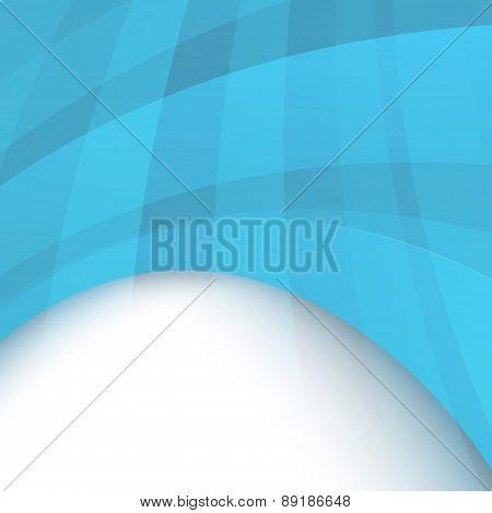 Transparent Wavy Banner Template. Vector Illustration