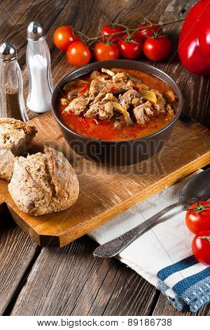 Goulash Soup With Paprika.