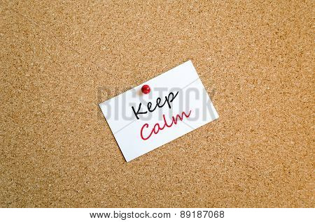 Keep Calm Note Concept
