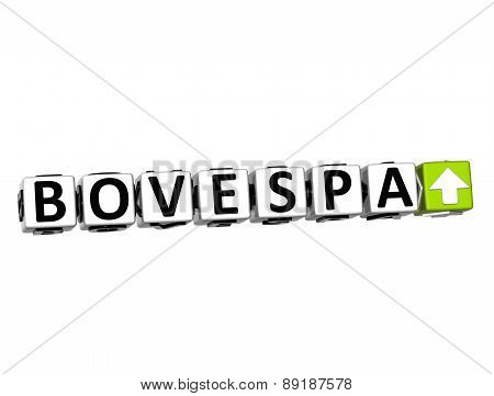 3D Bovespa Stock Market Block Text On White Background