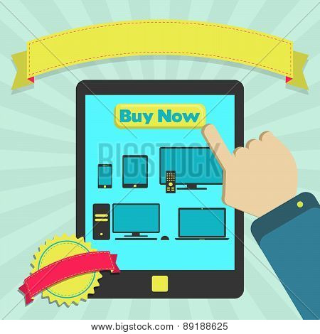 Buy Electronic Equipment Through Mobile