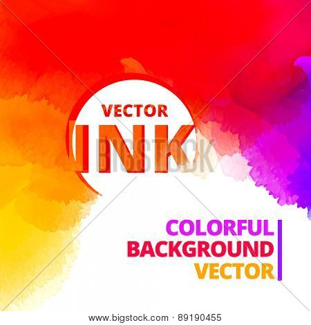 colorful background of vibrant ink splash vector design illustration