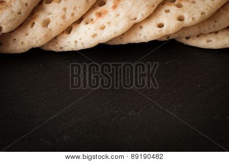 Pancakes On A Gray Background