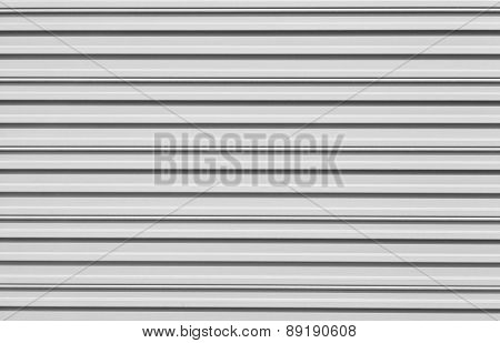 White corrugated metal