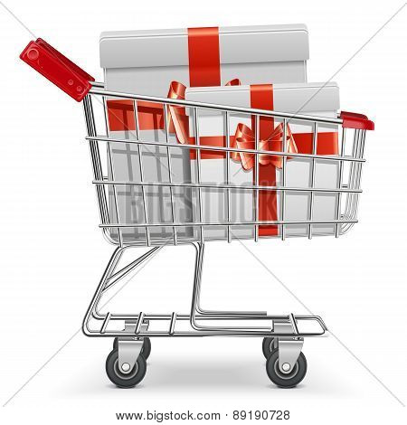 Supermarket Cart with Gifts