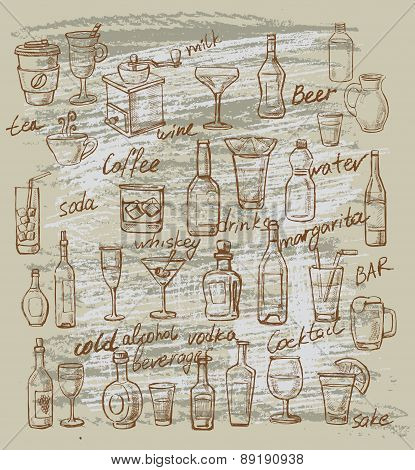 vector beverages