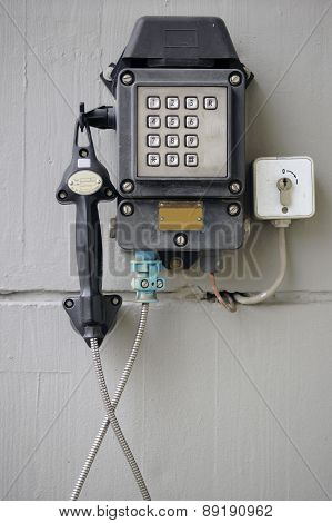 Old emergency phone
