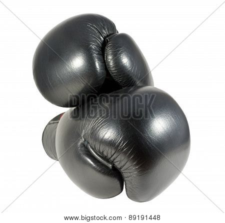 Black Boxing Gloves Isolated