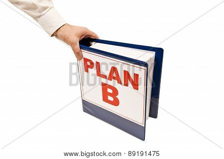 Arm Grabbing PLAN B Isolated On White