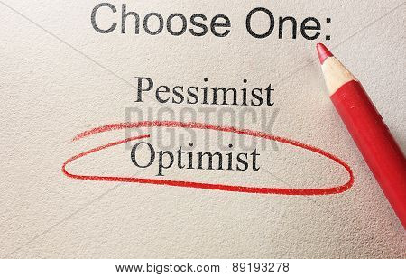 Optimist Red Circle