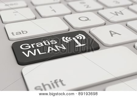 Keyboard - Gratis Wlan - Black