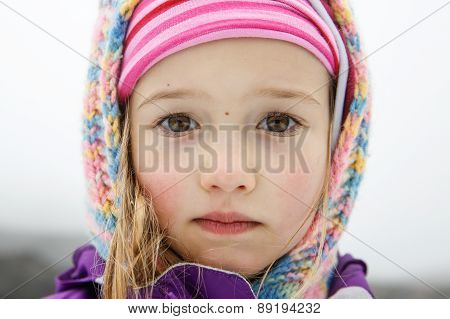 Uniquely Beautiful Little Girl With Big Eyes