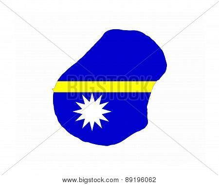 Nauru Flag Map