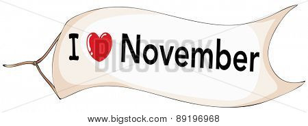 I love November banner flying