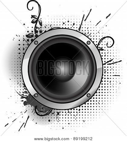 Abstract Grunge Speaker Design