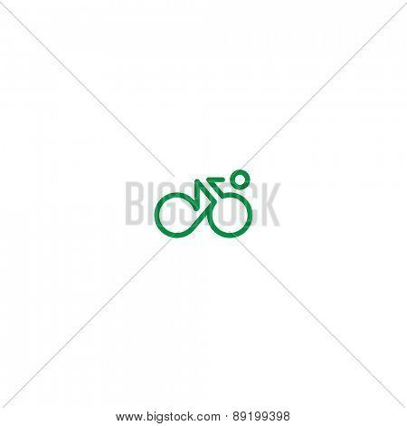 Cyclist symbol