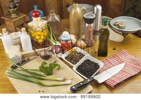 home food preparation in the kitchen