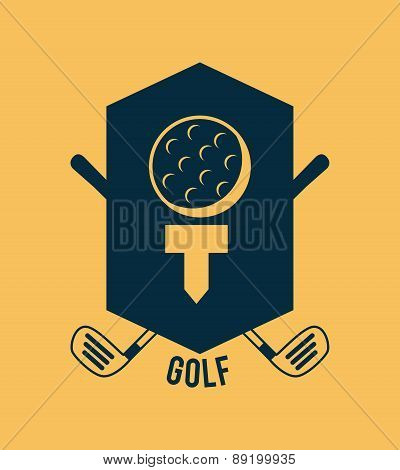 golf design over cream background vector illustration