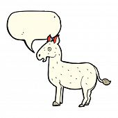 pic of mule  - cartoon mule with speech bubble - JPG