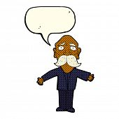 picture of disappointed  - cartoon disappointed old man with speech bubble - JPG