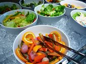 picture of buffet lunch  - Buffet lunch in one of the  hotel restaurant - JPG