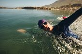 stock photo of long distance  - Open water swimming - JPG