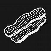 image of bacon strips  - Bacon Doodle - JPG