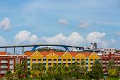 picture of curacao  - A Huge high bridge arching over Curacao - JPG