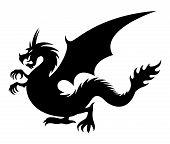 foto of dragon  - Vector sign - JPG