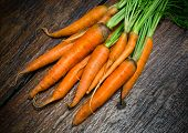 image of carrot  - Bunch of fresh organic carrots  - JPG