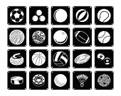 Постер, плакат: Collection Of Sport Ball Icons On White Background