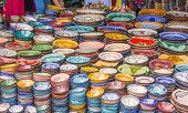 picture of curio  - Display of ceramic craft in Marrakesh - JPG