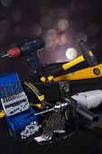 stock photo of triplets  - Construction tools - JPG