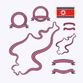 picture of nationalism  - Outline map of North Korea - JPG