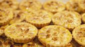 foto of pasteis  - Tray with loads of delicious portuguese pastries - JPG