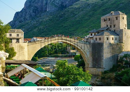 Old City And Old Bridge (stari Most), Mostar