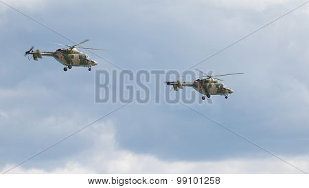 Two Helicopters Ansat-u