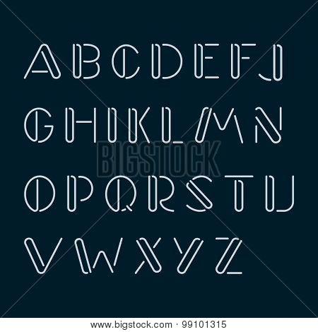 Handmade Latin, English Alphabet, Font.